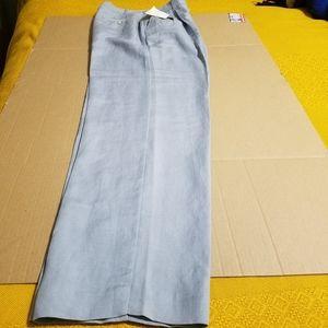 NWT EMMA JAMES Linen/rayon powdered blue slacks